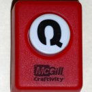 McGill Craftivity Paper Punch Letter Q Upper Case Capital Scrapbooking