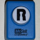 McGill Craftivity Paper Punch Letter R Upper Case Capital Scrapbooking