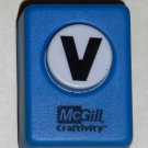 McGill Craftivity Paper Punch Letter V Upper Case Capital Scrapbooking