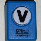 McGill Craftivity Paper Punch Letter V Upper Case Capital Scrapbooking