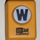 McGill Craftivity Paper Punch Letter W Upper Case Capital Scrapbooking