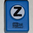 McGill Craftivity Paper Punch Letter Z Upper Case Capital Scrapbooking