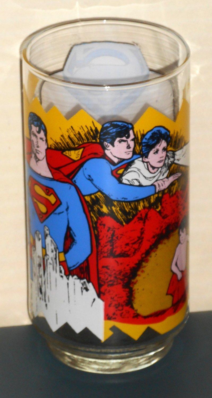 Superman the Movie Drinking Glass Tumbler Pepsi Cola Kal-el the Child Man of Steel DC Comics 1978