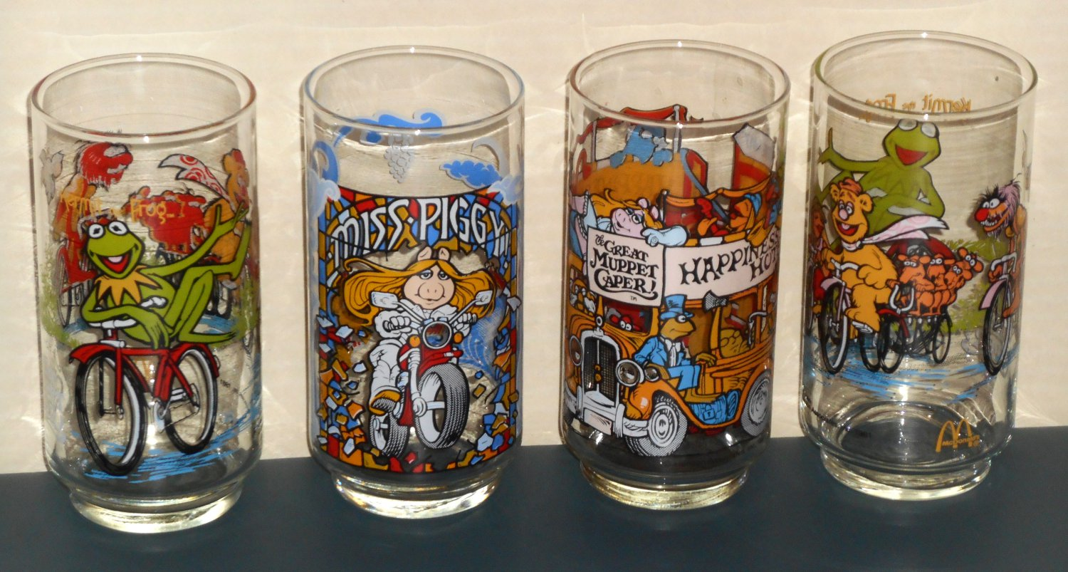 SOLD OUT Muppets Glass Lot McDonald's Great Caper Kraft Jelly Kermit Baby Miss Piggy Gonzo 1981 1989