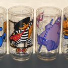 McDonald's Drinking Glass Lot of 9 1977 McDonaldland Action Series Big Mac Grimace Hamburglar