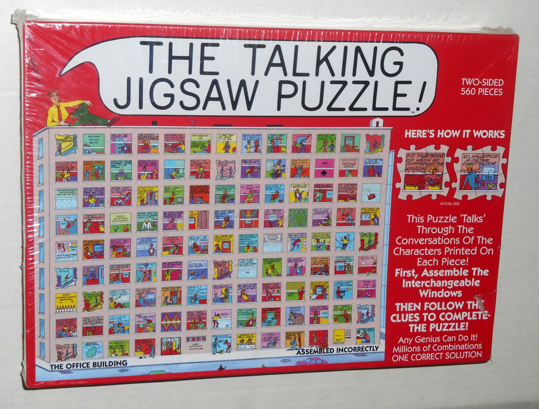 NIB Talking Jigsaw Puzzle The Office Building 560 Pieces Buffalo Games 1995 Don Scott