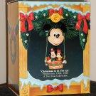 Christmas is in the Air Mickey & Minnie Mouse Ornament 831174 Enesco Treasury Hot Air Balloon