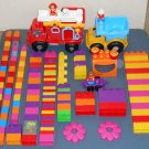 Mega Bloks Building Blocks Lot Firetruck Fire Engine Dump Truck Fireman Dog 140+ Pieces