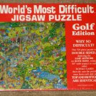 Golf Edition World's Most Difficult Jigsaw Puzzle 529 Piece SEALED Buffalo Games