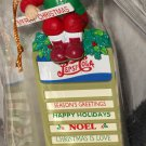 Pepsi Cola Christmas Holiday Ornament Santa Claus on Menu Board Sign PepsiCo 1997 Matrix