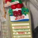 Pepsi Cola Christmas Holiday Ornament Santa Claus on Menu Board Sign PepsiCo 1997 Matrix