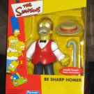 Homer Simpson Be Sharp Figure Mail Away The Simpsons Playmates WOS 2002 NIB