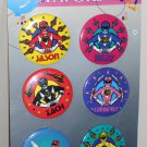 Mighty Morphin Original Power Rangers 2¼ Inch Pinback Buttons Pins New on Card Saban 1993