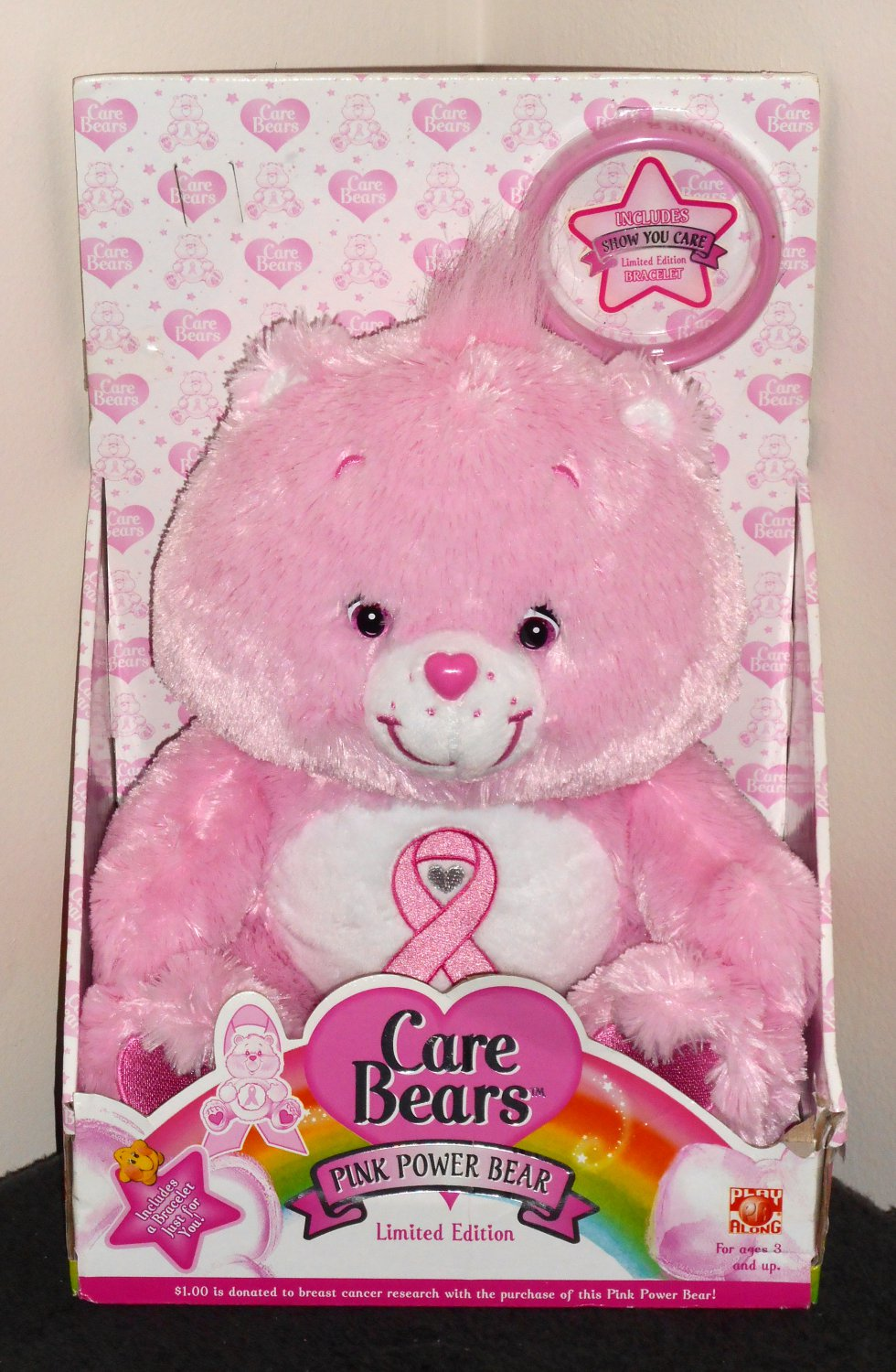 sold out care bears plush pink power bear limited edition
