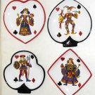 King of Hearts 4 Piece Plate Dish Set Poker Card Suits Tabletops Gallery Club Spade Heart Diamond