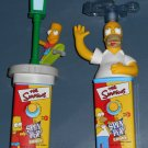 Simpsons Spin Pop Lot Homer Bart Simpson Cap Candy Battery Operated 2003