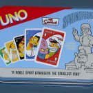 The Simpsons Special Edition Uno Card Game in Tin Jebediah Springfield 2005