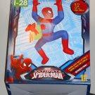 Spiderman Airblown Fan Inflatable 5 Feet Tall Present Christmas Happy Holidays LED Lights Up NIB