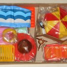 Arco Fashion Doll Backyard Pool Set Unused Complete 7688 For Use With Barbie Other 8½ - 11½ Dolls