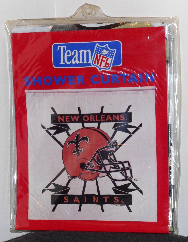 New Orleans Saints Vinyl 70 X 72 Shower Curtain NIP Team NFL Clear Jay Franco 821 Football