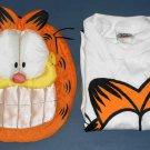 Garfield the Cat Plush Sleepy Heads Fun Pouch and Sleepshirt Night Tee Shirt