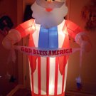 Santa Claus God Bless America Airblown Inflatable 8 Feet Tall Christmas Patriotic Lights Up Gemmy