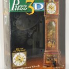Puzz3D Jigsaw Puzzle Grandfather Clock 777 Pieces Real Working Clock Milton Bradley NIB