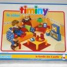 Living Room Timiny Berchet 660006 Doll Furniture Le Salon 3 Little Ones Family 1993