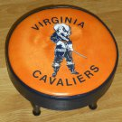 Virginia Cavaliers Padded Footstool Foot Stool College NCAA Wahoos Hoos Orange Blue Man Cave Decor