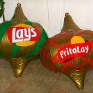 Frito Lay Large Inflatable Vinyl Christmas Tree Ornaments Garland Lot Lay's Potato Chips