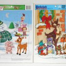Rudolph the Red Nosed Reindeer Puzzles Book Golden Frame Tray Holiday Greetings Hallmark Christmas