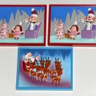 Rudolph & the Island of Misfit Toys Magnet Lot Button Dolly Santa Spotted Elephant Charlie-in-Box