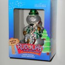 Sam the Snowman Hand Crafted Glass Ornament Rudolph & the Island of Misfit Toys Brass Key NIB