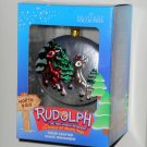 Rudolph Clarice Hand Crafted Glass Ornament Rudolph & the Island of Misfit Toys Brass Key NIB