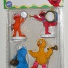 Sesame Street Marching Band Wilton Cake Decorations Toppers 2113-3460 PVC Figures NIP Elmo Zoe