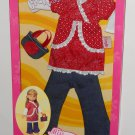 "13"" Miss Corolle Les Cheries K7095-0 Doll Clothes Fashion Outfit Red Dress Jean Pants NIP + More"