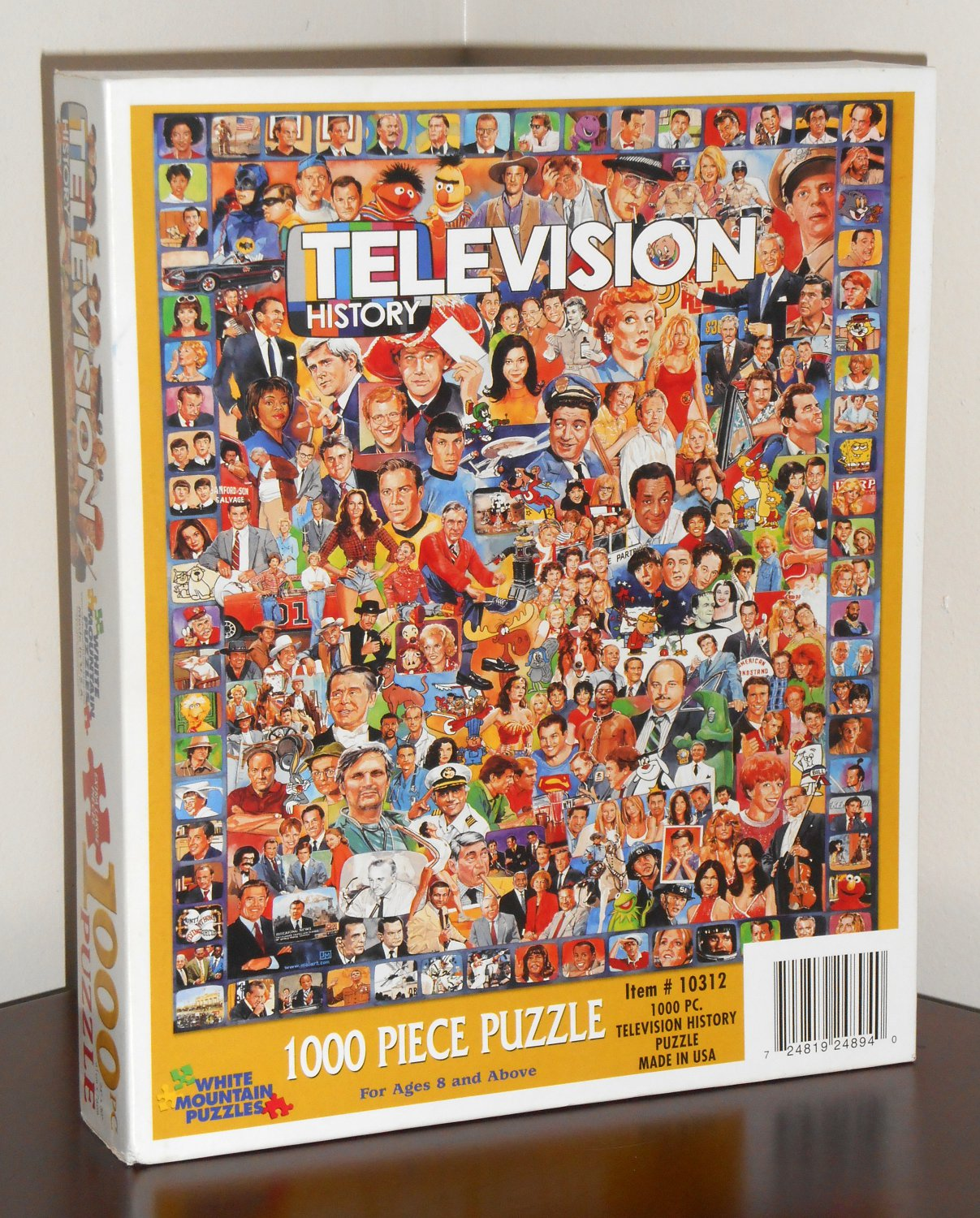 television history 1000 piece jigsaw puzzle tv white. Black Bedroom Furniture Sets. Home Design Ideas