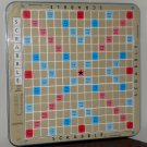 Scrabble Deluxe Blue Turntable Board Only Recessed Plastic 1982 Selchow & Righter No 71