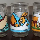 Welch's Jelly Glass Jar Lot Winnie the Pooh's Grand Adventure Search For Christopher Robin 1 5 6