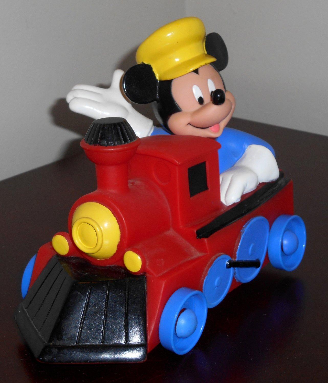Mickey Mouse Plastic Toy Train Johnson & Johnson 1996 Walt Disney Engineer