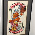 Garfield the Cat and Company Framed Matted Cross Stitch Odie Nermal Arlene Pooky PAWS Jim Davis