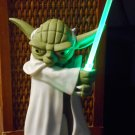 Star Wars Yoda Talking USB Desk Protector Computer Motion Activated Sound Effects Green Light Saber