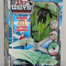 Sky Guys Action Figure Flyers Shockwave Green Delta Wing Hang Glider Go Fly A Kite Jakks Pacific