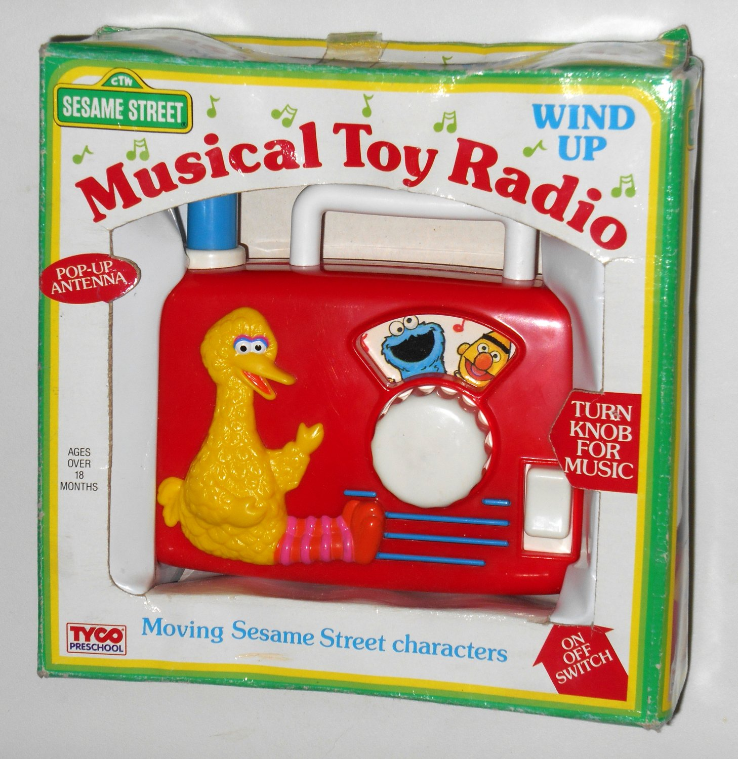 Sesame Street Musical Toys : Sesame street musical toy wind up radio tyco preschool