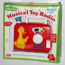Sesame Street Musical Toy Wind-Up Radio Tyco Preschool 8814 Big Bird 1993 CTW