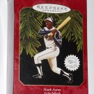Hammerin Hank Henry Aaron Hallmark Keepsake Christmas Ornament At the Ballpark 1997 Atlanta Braves