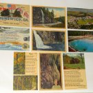 Old Vintage Post Card Lot Postcard Linen South North Carolina Georgia Citadel