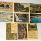 Old Vintage Post Card Lot Postcard Linen South North Carolina Georgia Citadel