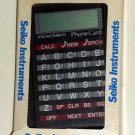 Seiko Instruments Phone Book Card DF-210 Calculator with Instructions Case Box