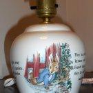 Wedgewood Ceramic Peter Rabbit Table Desk Lamp Nursery Beatrix Potter Etruria & Barlaston England
